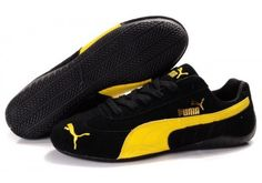 Discover the Puma Speed Cat Sd Men Black Yellow Christmas Deals collection at Pumafenty. Shop Puma Speed Cat Sd Men Black Yellow Christmas Deals black, grey, blue and more. Get the tones, get the features, get the look! Puma Sports Shoes, Mens Puma Shoes, Cheap Puma Shoes, Puma Sneakers, Leather Sneakers, Yellow Shoes, Black N Yellow, Black Shoes, Yellow Top