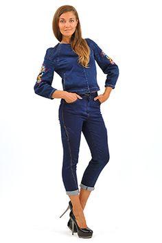Куртка с вышивкой в стиле хиппи hippie jeans