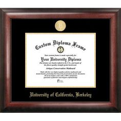 Campus Images NCAA Gold Embossed Diploma Picture Frame NCAA Team: Cal Golden Bears
