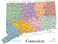 ct map of towns | Genealogy of Connecticut Towns