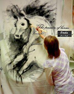 Speed art. Jaanas studio Speed Art, Horse Art, Horses, Studio, Movie Posters, Film Poster, Popcorn Posters, Horse, Film Posters