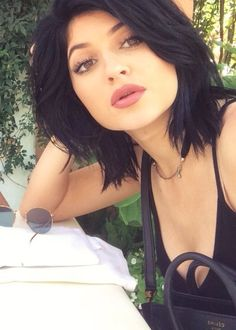 Kylie Jenner. She makes me want short hair like this but I know I would look ridiculous
