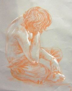 Conte Figure Drawing - Northwest High School