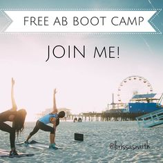 "FREE BOOT CAMP 5 DAYS SIZZLED ABS SUMMER IS COMING. Do I need to say any more?! JOIN NOW.. starts JUNE 20th.  Streamed AB exercises daily  FREE 5 day meal plan  grocery list  BONUS FREE Body LOVE eBook filled with Healthy recipes upon sign up!  Everyone who joins the GROUP will have their name put in a drawing for GIFTS from me! So who wants to JOIN?! Comment ""#AB ME!"" or message me fitwithloris@gmail.com  & I'll send you a VIP invite! (Must not be currently working with a  Coach)"
