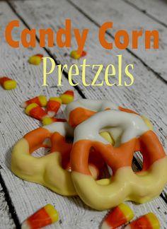 Candy Corn Pretzels