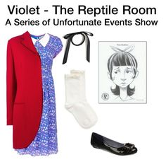 """""""Violet (The Reptile Room) - A Series of Unfortunate Events (Netflix)"""" by starrydancer ❤ liked on Polyvore featuring Hue, Dr. Scholl's and Christian Dior"""