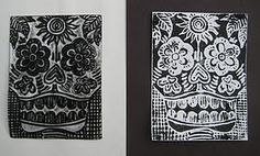 Day of the Dead - scratch art lesson