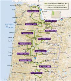 Willamette Valley Birding Trail - Trail Map