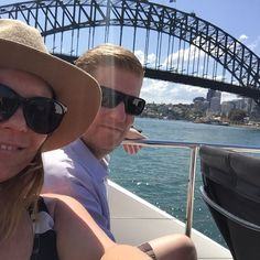 Take me back to yesterday when we were touring Sydney harbour in the sparkling sunshine #sydney #sydneyharbour #sydneyharbourbridge #ilovesydney #holiday #lovers #sunshine #tbt #happydays #happy by emmamrobertson http://ift.tt/1NRMbNv