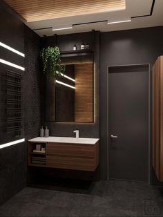 Putting Together Basement Bathroom Plans – House Viral Gossip Small Basement Bathroom, Add A Bathroom, Bathroom Plans, Basement House, Wood Bathroom, Bathroom Ideas, Basement Ideas, Modern Basement, Modern Bathroom Design