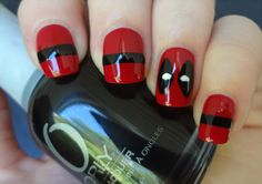 Deadpool nails by ~AStudyInPolish on deviantART