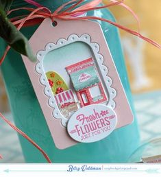 Fresh Flowers Tag by Betsy Veldman for Papertrey Ink (July 2015)
