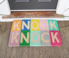 Knock Knock Doormat by Down To The Woods | FRANKIE + COCO