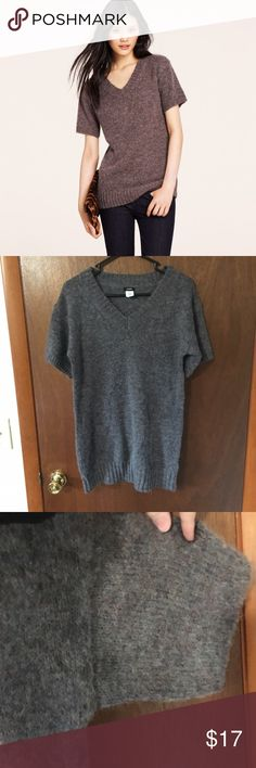 J. Crew September Sweater Dark Gray J Crew September Sweater Short Sleeved. Amazing Condition. Size Small. J. Crew Sweaters V-Necks