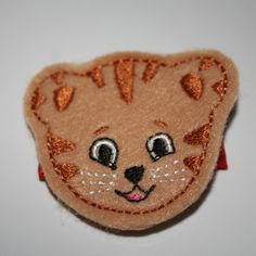 Cute Tiger Cub Daniel Wool Felt Tan Tiger Hair by OwlMyPretties Daniel Tiger Party, Daniel Tiger Birthday, Cute Tiger Cubs, Cute Tigers, Tiger Hair, Daniel Tiger's Neighborhood, Felt Hair Clips, Felt Bows, Red Ribbon
