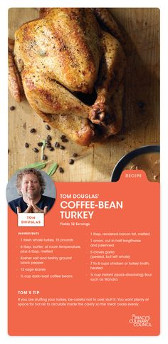 Macy's Culinary Council Chef Tom Douglas' Coffee-Bean Turkey