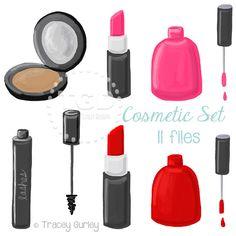Cosmetic Makeup Clip Art Nail polish clip by TraceyGurleyDesigns Nail Polish Bottles, Pink Nail Polish, Pink Nails, Makeup Set, Lip Makeup, Makeup Cosmetics, Alone Art, Makeup Wallpapers, Cosmetic Sets