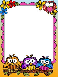 Printable Border, School Border, Kindergarten Coloring Pages, Boarder Designs, Free Printable Stationery, Boarders And Frames, Owl Classroom, Text Frame, School Frame