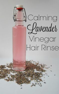 Calming Lavender Vinegar Hair Rinse Recipe // With this calming lavender vinegar hair rinse you get the calming benefits for your mood and your hair!                                                                                                                                                                                 More