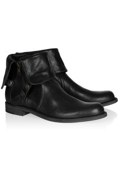 LD Tuttle cuffed leather ankle boots