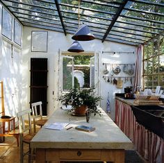 Perfect Kitchen Lighting !~except for washing the outside. how would you wash the outside?