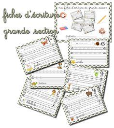 La maternelle de Laurène: Fiches d'écriture grande section