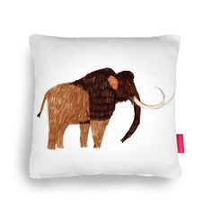 Quirky Illustrated Gifts | Mammoth Cushion | James Barker | Fun | dino | Cushions | Homeware | Ohh Deer$60