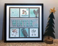 Classes to create a new insert each month! So many ideas to be inspir. - Home Decor -DIY - IKEA- Before After Box Frame Art, Shadow Box Frames, Collage Frames, Paper Frames, Paper Collages, Stampin Up Christmas, Christmas Crafts, Christmas Artwork, Scrapbooking