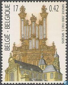 Postzegels - België [BEL] - Forceville orgel en de abdijkerk in Ninove