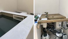 Auto-construction piscine pas cher : voici un bassin qui coûte 1 500 € Corner Desk, Voici, Storage, Furniture, Home Decor, Garden Decorations, Pools, Building A Swimming Pool, Mini Pool