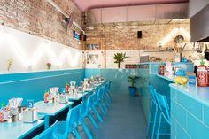 Phamily Kitchen - A Vietnamese Restaurant In Melbourne With Contemporary Urban Decor Architecture Restaurant, Hotel Restaurant, Rustic Restaurant, Restaurant Interior Design, Cafe Interior, Interior Design Kitchen, Interior Architecture, Interior Decorating, Commercial Design