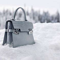 Winter ahead! The #Delvaux Tempête MM bag in Calf Souple & Alligator Dolce Ice is now available #AW14 #instabag #winter #style #デルヴォー #델보