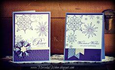 Purple Snowflake Cards