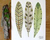 vernal nest bird art giclee print reproduction par GollyBard