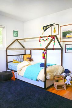 DIY IKEA Kura bed hack - Turn your toddler's bed into an awesome playhouse! Lovely Indeed