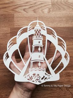 COMMERCIAL USE Lighthouse Shell Papercut Design. Papercutting/Vinyl Template to cut yourself in SVG and PDF format. Small Business Commercial Licence Included!!! *****ITEM DESCRIPTION***** - A perfect design for hand or machine paper cutting! Digitally traced from an original