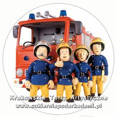 094. Fototort ze Strazakiem Sam'em. Fireman Sam photocake.