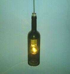 Lampadario bottiglia vino arredo bar pub ristoranti enoteche  #lampadario #bottiglia #vino #bar #pub #enoteca #illuminazione