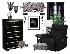 """""""Zebra Haven"""" by bcurryrice on Polyvore featuring Quail, Room Essentials, Signature Design by Ashley, Port 68, Kate Spade, PTM Images, Dot & Bo, Just Cavalli, Marc Jacobs and Troy Lighting"""
