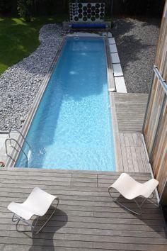 #piscine #beton #Caron #longueur #couloir #detente
