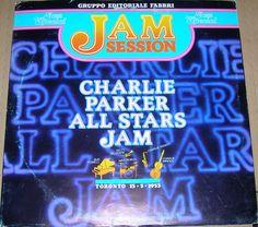 Charlie Parker All Stars Jam Italian Import 1981 EX Vinyl Record