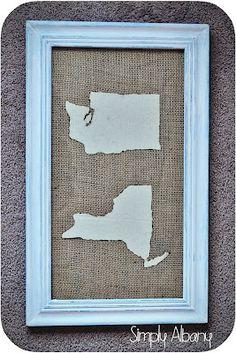 map art, fabric map, crafti, maps, diy fabric, craft idea, diy home, diy favorit, gift idea