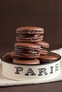 .Chocolate macaroons