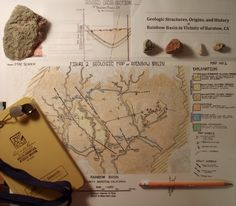 The result of my mapping project in Rainbow Basin, CA.  Geology is the Shist!