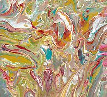 Acrylic Pour 32 by B