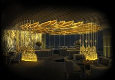 Saadiyat Island Resort Interior Design Sketches, Interior Rendering, Lighting Concepts, Lighting Design, Plan Design, Layout Design, Design Ideas, Light Architecture, Architecture Design
