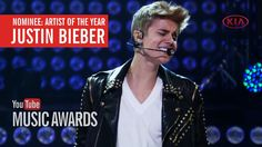 I voted for Justin Bieber to win Artist of the Year at the YouTube Music...