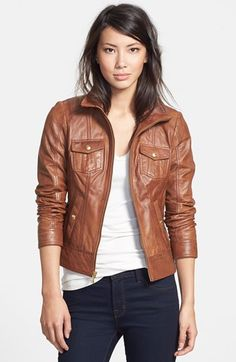 GUESS Leather Jacket available at #Nordstrom