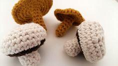 crochet tuto champignon girolle