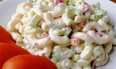 Minutkový těstovinový salát s fantastickou zálivkou - varenirecept Pasta Recipes, Diet Recipes, Cooking Recipes, Healthy Recipes, Healthy Salads, Healthy Eating, Pesto Pasta Salad, What To Cook, Vegetable Dishes